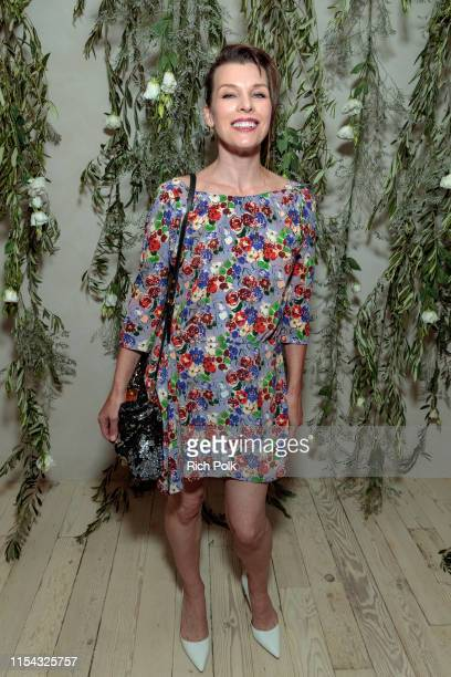 Actress Milla Jovovich attends the Shani Darden Studio opening on June 06 2019 in Beverly Hills California