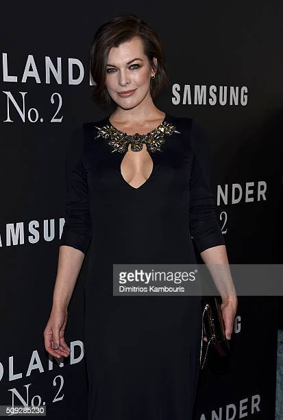 Actress Milla Jovovich attends the 'Zoolander 2' World Premiere at Alice Tully Hall on February 9 2016 in New York City