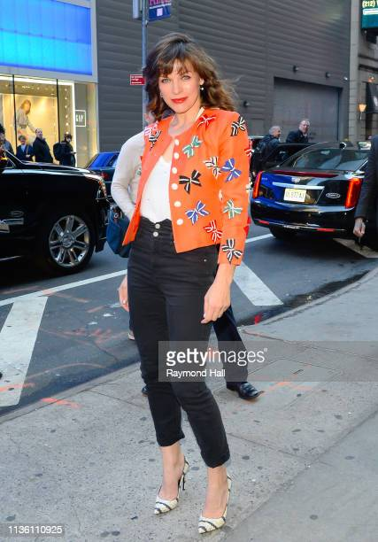 Actress Milla Jovovich is seen outside GMA on April 10 2019 in New York City