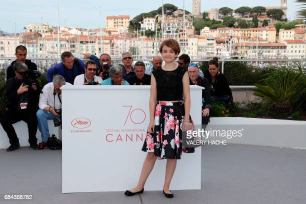US actress Millicent Simmonds poses on May 18 2017 during photocall for the film 'Wonderstruck' at the 70th edition of the Cannes Film Festival in...
