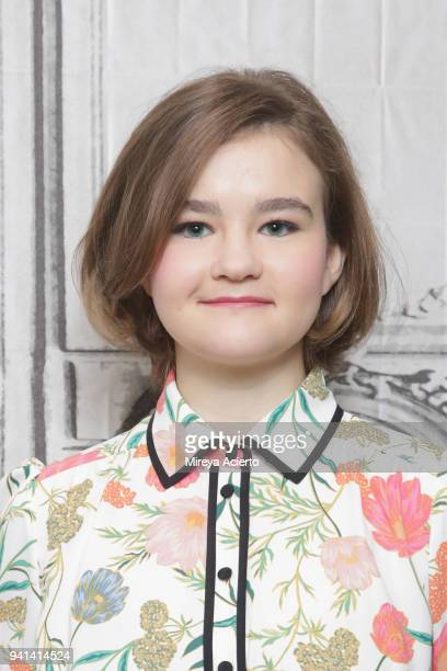 Actress Millicent Simmonds visits BUILD to discuss the movie 'A Quiet Place' at Build Studio on April 3 2018 in New York City