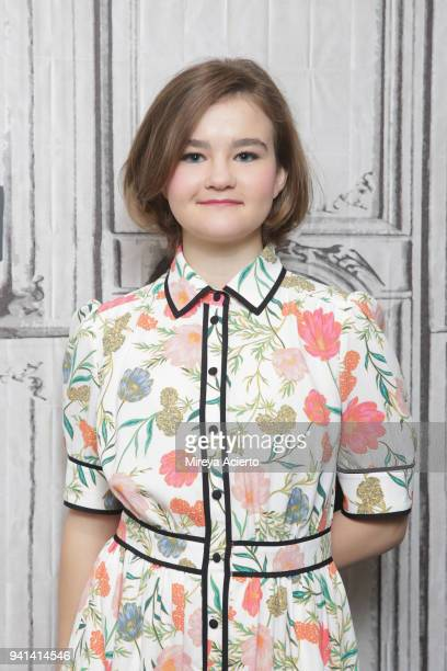 """Actress Millicent Simmonds visits BUILD to discuss the movie """"A Quiet Place"""" at Build Studio on April 3, 2018 in New York City."""