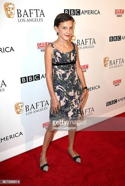 Actress Millie Bobby Brown arrives at BAFTA Los Angeles - BBC America TV Tea Party at The London Hotel on September 17, 2016 in West Hollywood,...