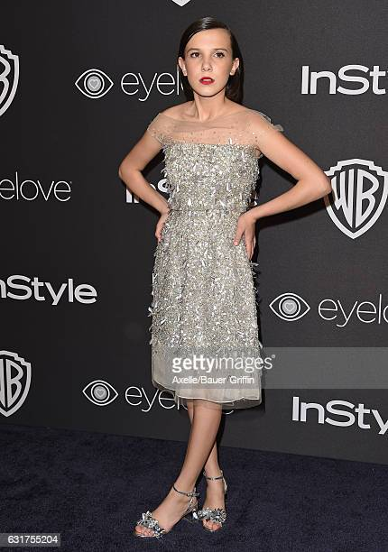 Actress Millie Bobby Brown arrives at the 18th Annual PostGolden Globes Party hosted by Warner Bros Pictures and InStyle at The Beverly Hilton Hotel...