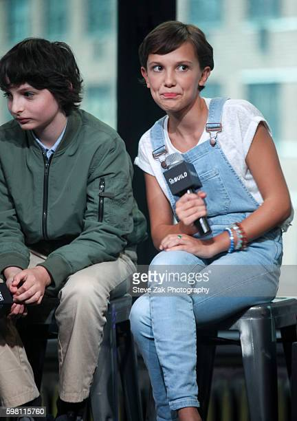 Actress Millie Bobby Brown attends Build series to discuss 'Stranger Things at AOL HQ on August 31 2016 in New York City