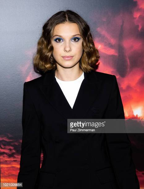Actress Millie Bobby Brown attends Stranger Things Season 2 Screening at AMC Lincoln Square Theater on August 21 2018 in New York City
