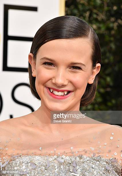 Actress Millie Bobby Brown attends the 74th Annual Golden Globe Awards at The Beverly Hilton Hotel on January 8 2017 in Beverly Hills California