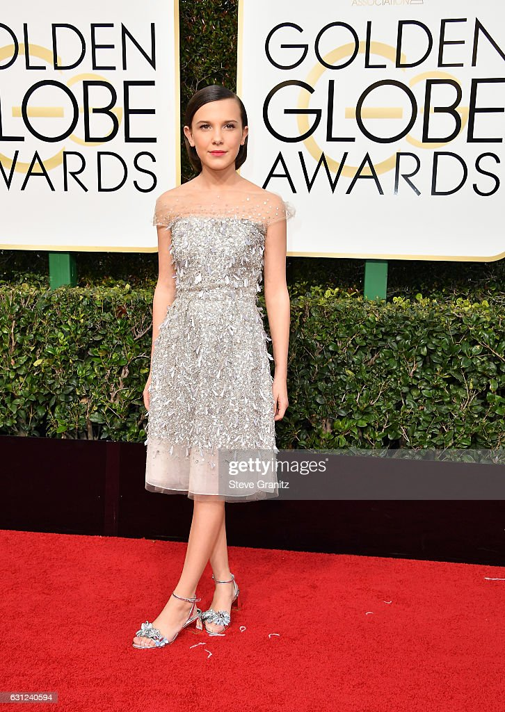 Actress Millie Bobby Brown attends the 74th Annual Golden Globe Awards at The Beverly Hilton Hotel on January 8, 2017 in Beverly Hills, California.
