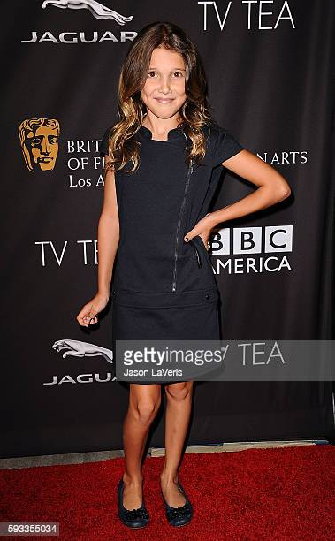 Actress Millie Bobby Brown attends the BAFTA Los Angeles TV Tea Party at SLS Hotel on August 23 2014 in Beverly Hills California