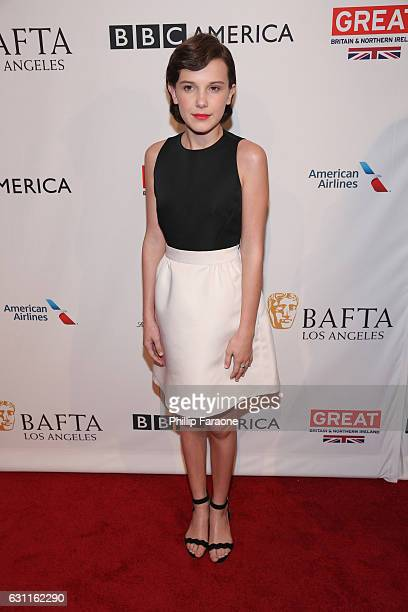 Actress Millie Bobby Brown attends The BAFTA Tea Party at Four Seasons Hotel Los Angeles at Beverly Hills on January 7 2017 in Los Angeles California