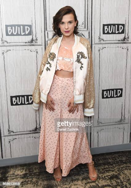 Actress Millie Bobby Brown attends the Build Series to discuss her show 'Stranger Things' at Build Studio on October 31 2017 in New York City