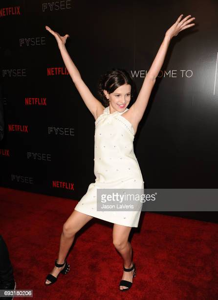 Actress Millie Bobby Brown attends the 'Stranger Things' FYC event at Netflix FYSee Space on June 6 2017 in Beverly Hills California
