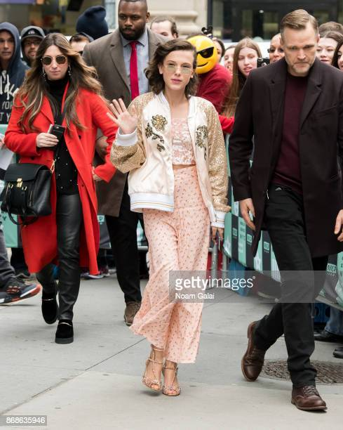 Actress Millie Bobby Brown departs Build Series on October 31 2017 in New York City