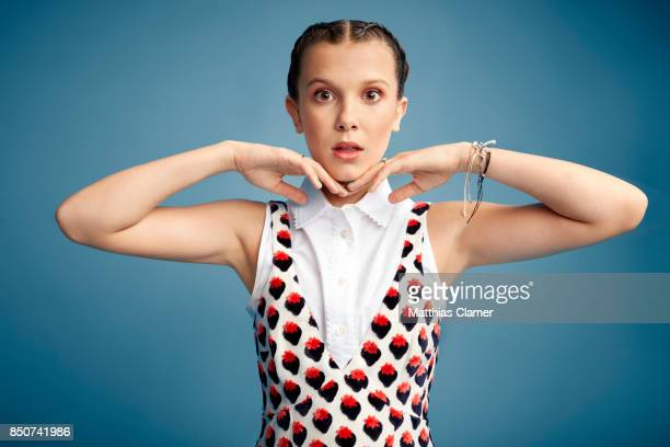 Actress Millie Bobby Brown from Stranger Things is photographed for Entertainment Weekly Magazine on July 22 2017 at Comic Con in San Diego...