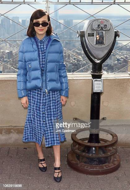 Actress Millie Bobby Brown lights The Empire State Building in honor of Unicef and World Children's Day on November 20 2018 in New York City