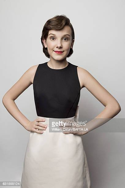 Actress Millie Bobby Brown poses for a portraits at the BAFTA Tea Party at Four Seasons Hotel Los Angeles at Beverly Hills on January 7 2017 in Los...