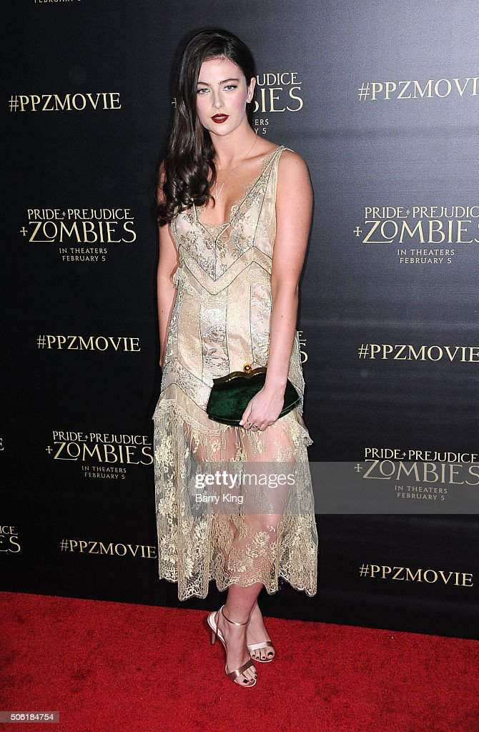 Actress Millie Brady attends the Premiere of Screen Gems' 'Pride And Prejudice And Zombies' at Harmony Gold Theatre on January 21, 2016 in Los Angeles, California.