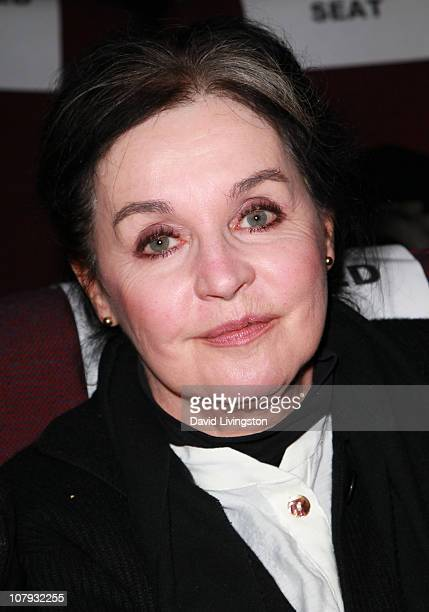 Actress Millie Perkins attends American Cinematheque's presentation of an Andy Garcia double feature at the Aero Theatre on January 7 2011 in Santa...