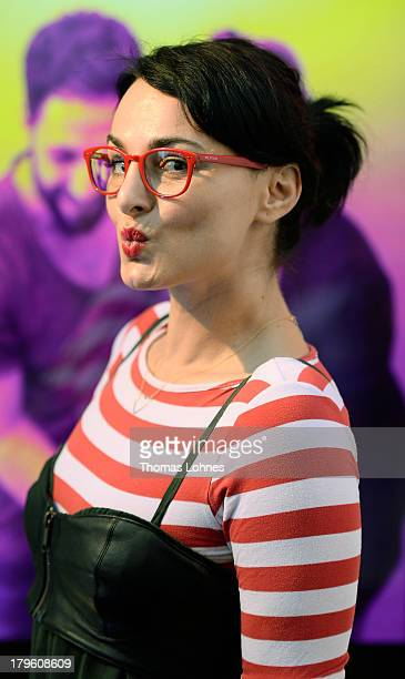 Actress Mimi Fiedler poses at the opening of the Diesel flagship store on September 5 2013 in Frankfurt am Main Germany