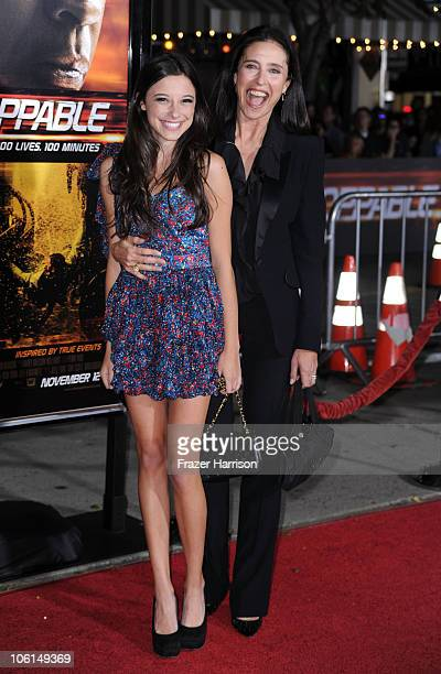 Actress Mimi Rogers and daughter Lucy arrives at the premiere of Twentieth Century Fox's 'Unstoppable' at Regency Village Theater on October 26 2010...