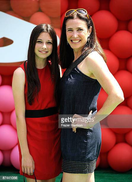 Actress Mimi Rogers and daughter Lucy Julia RogersCiaffa arrives at the Premiere Of Disney Pixar's Up on May 16 2009 at the El Capitan Theatre in...