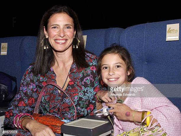 Actress Mimi Rogers and daugther Lucy RogersCiaffa attend the Enyce/Lady Enyce Spring 2005 show at the MercedesBenz Fashion Week at Smashbox Studios...