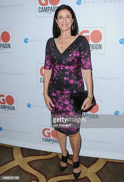 Actress Mimi Rogers arrives at the 8th Annual GO Campaign Gala at Montage Beverly Hills on November 12 2015 in Beverly Hills California