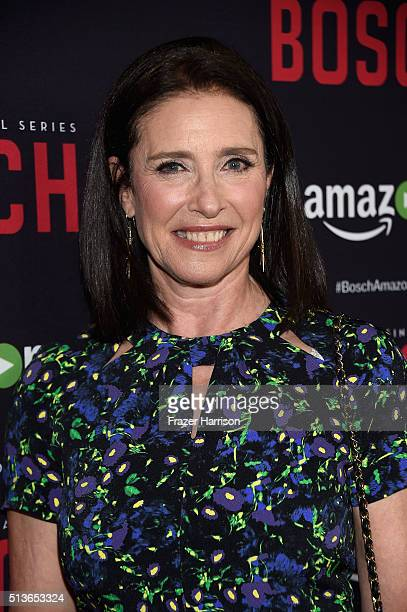 """Actress Mimi Rogers arrives at the Premiere Of Amazon's """"Bosch"""" Season 2 at SilverScreen Theater at the Pacific Design Center on March 3, 2016 in..."""