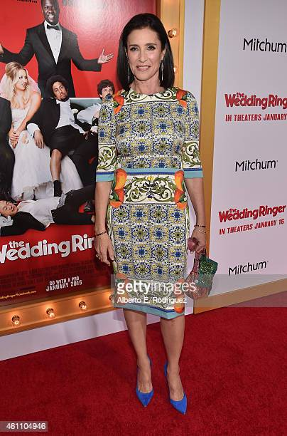 Actress Mimi Rogers arrives to the premiere of Screen Gems' 'The Wedding Ringer' at the TCL Chinese Theatre on January 6 2015 in Hollywood California