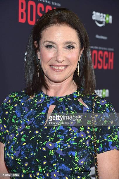 Actress Mimi Rogers attends Amazon Red Carpet Premiere Screening For Season Two Of Original Drama Series, 'Bosch' on March 3, 2016 in Los Angeles,...