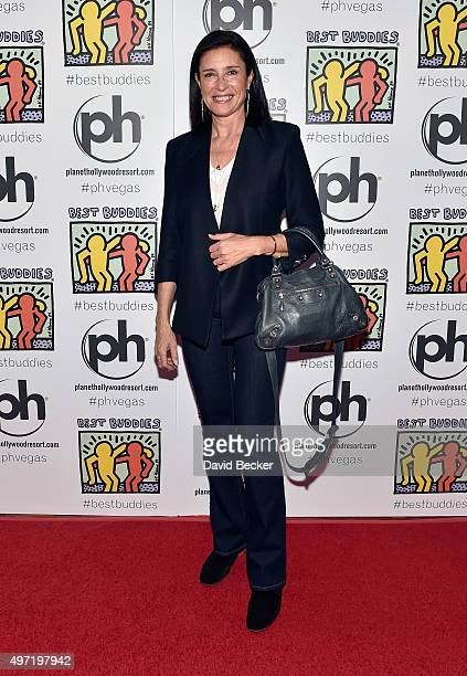 Actress Mimi Rogers attends the All In for Best Buddies celebrity poker tournament at Planet Hollywood Resort Casino on November 14 2015 in Las Vegas...