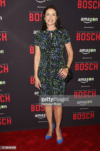 """Actress Mimi Rogers attends the Premiere Of Amazon's """"Bosch"""" Season 2 held at the SilverScreen Theater at the Pacific Design Center on March 3, 2016..."""