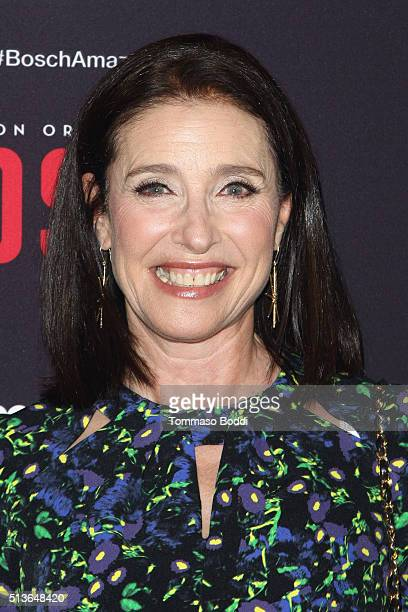 Actress Mimi Rogers attends the Premiere Of Amazon's Bosch Season 2 held at the SilverScreen Theater at the Pacific Design Center on March 3 2016 in...