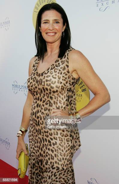 Actress Mimi Rogers is seen at the Opening Night Party of the first ever cards tournament hosted by online poker website World Poker Exchange at Old...