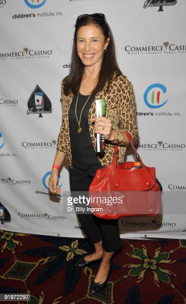 Actress Mimi Rogers participates in the Children's Institute ''Poker For A Cause'' Celebrity Poker Tournament at Commerce Casino on October 17 2009...