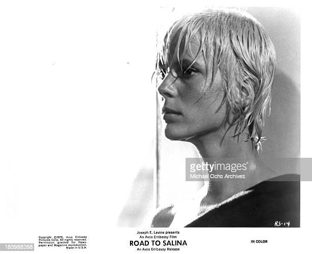 Actress Mimsy Farmer on set of the movie Road to Salina in 1970