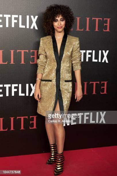 Actress Mina El Hammani attends 'Elite' premiere at Reina Sofia Museum on October 2 2018 in Madrid Spain