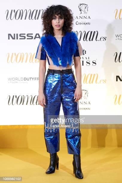 Actress Mina El Hammani attends Woman awards 2018 at the Casino de Madrid on October 30 2018 in Madrid Spain