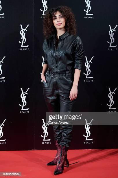 Actress Mina El Hammani attends 'YSL Beaute THE SLIM Rouge PurCouture' party at the Santona Palace on November 6 2018 in Madrid Spain