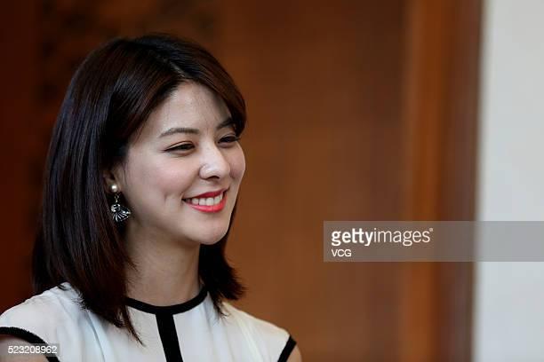 Actress Mina Fujii attends 'My New Sassy Girl' press conference on April 22 2016 in Shenyang China