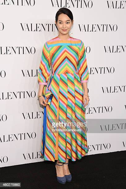 Actress Mina Shin attends the Valentino Sala Bianca 945 Event on December 10 2014 in New York City