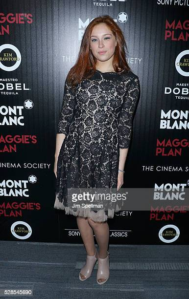 Actress Mina Sundwall attends the screening of Sony Pictures Classics' 'Maggie's Plan' hosted by Montblanc and The Cinema Society with Mastro Dobel...