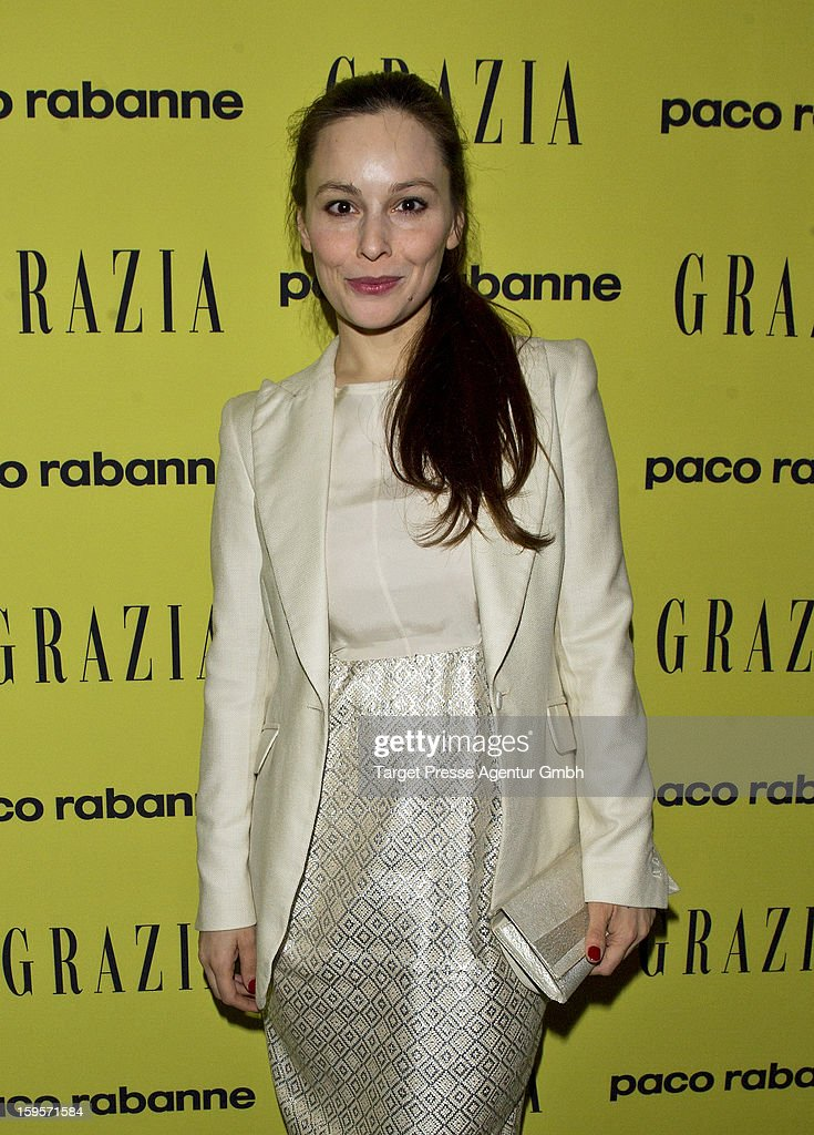 Actress Mina Tander and guest attend the Grazia Pop Up Casino during the Mercedes Benz Fashion Week Autumn/Winter 2013/14 at the Restaurant Uma on January 16, 2013 in Berlin, Germany.