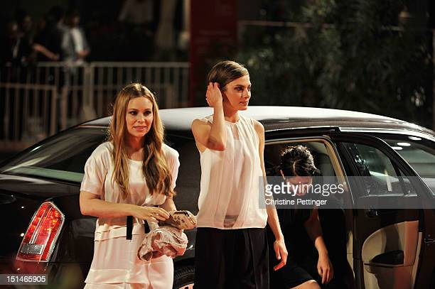 Actress Mina Tander director Alex Schmidt and actress Laura de Boer attend the Forgotten Premiere during the 69th Venice Film Festival at the Palazzo...