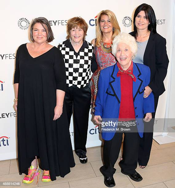 Actress Mindy Cohn Geri Jewell Lisa Whelchel Charlotte Rae and Nancy McKeon attend The Paley Center for Media's PaleyFest 2014 Fall TV Preview The...