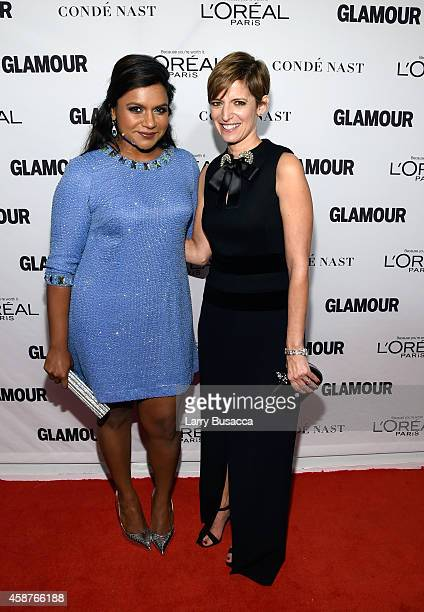 Actress Mindy Kaling and editorinchief of Glamour magazine Cindi Leive attend the Glamour 2014 Women Of The Year Awards at Carnegie Hall on November...