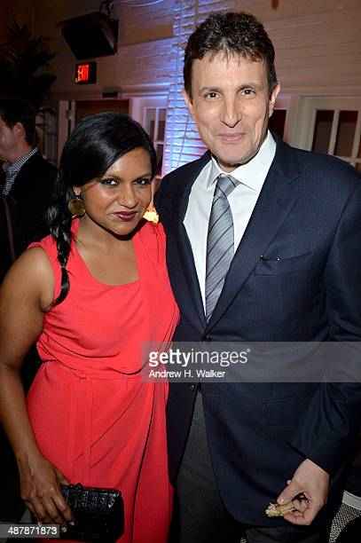 Actress Mindy Kaling and The New Yorker Editor David Remnick attend the White House Correspondents' Dinner Weekend PreParty hosted by The New...