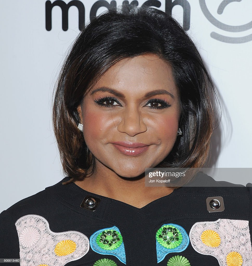 Actress Mindy Kaling arrives at the 2015 March Of Dimes Celebration Of Babies at the Beverly Wilshire Four Seasons Hotel on December 4, 2015 in Beverly Hills, California.