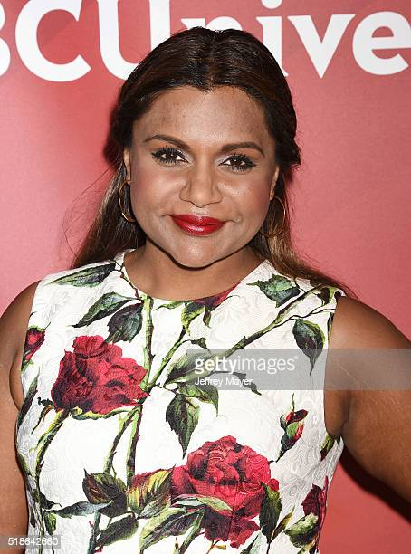 Actress Mindy Kaling arrives at the 2016 Summer TCA Tour - NBCUniversal Press Tour at the Four Seasons Hotel - Westlake Village on April 1, 2016 in...