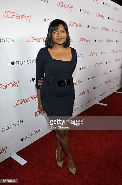 Actress Mindy Kaling arrives at the I Heart Ronson launch party presented by Charlotte Ronson and JCPenney held at Bar Marmont on April 3 2009 in Los...
